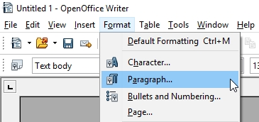 OpenOffice_gettoparagraph