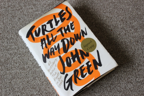 Cove rof Turtles All the Way Down by John Green (Dutton Books)